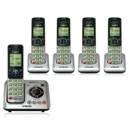 VTech CS6629 Cordless Phone with CS6609(4 Pack) Extra Handsets by VTech