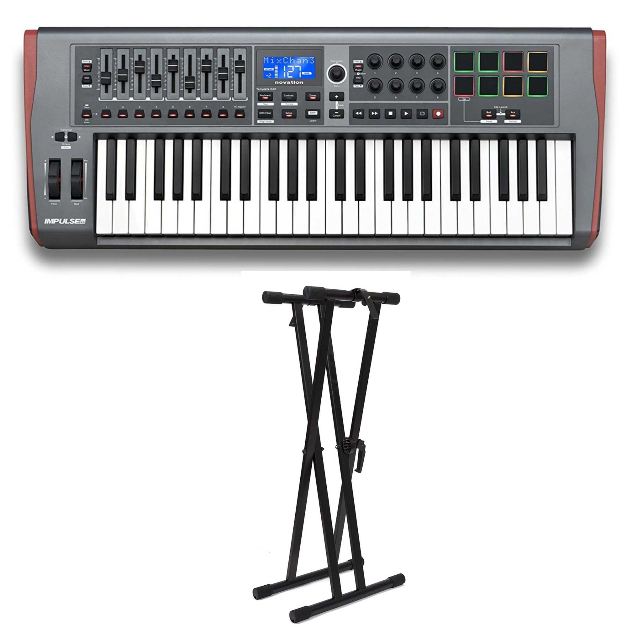 Novation Impulse 49 with Adjustable Keyboard Stand by Novation