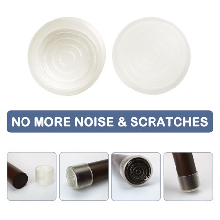 """Clear Chair Leg Caps Cover Furniture Floor Protector 40pcs 1.38"""" 35mm Inner Dia - image 3 of 7"""