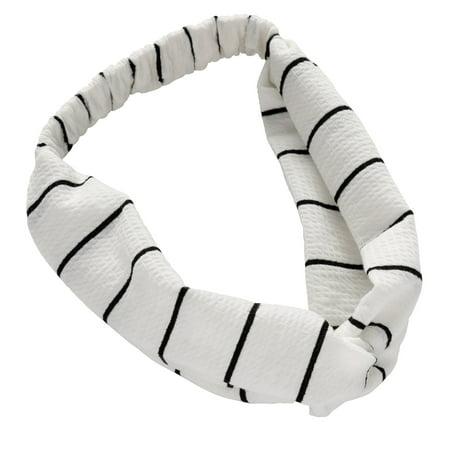 Lokks™ Black & White Stripe Knot
