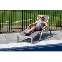 Urban Curved Sun Lounger, Brushed Aluminum (Grey)