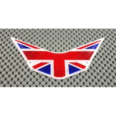 Decal Union (United Kingdom Great Britain Union Jack Triumph V Shape Domed Decal Sticker Flag)