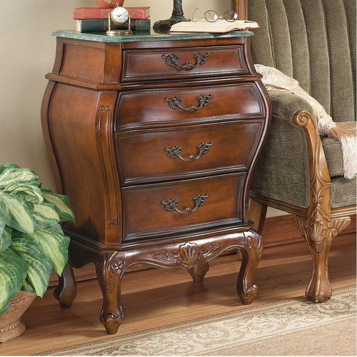 Design Toscano Voltaire Bombe 4 Drawer Chest