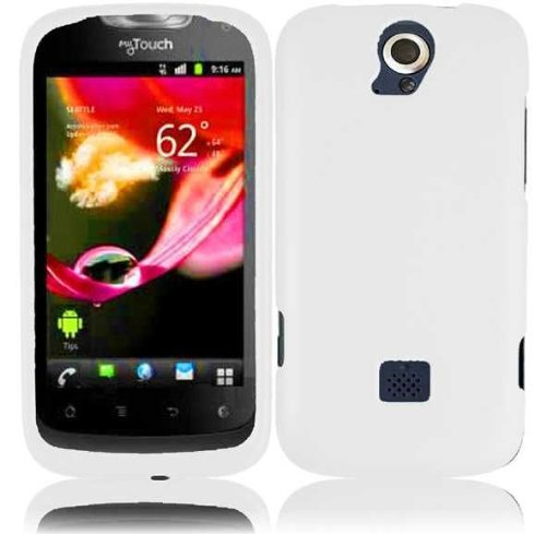 Hard Rubberized Case for Huawei myTouch Q U8730 - White