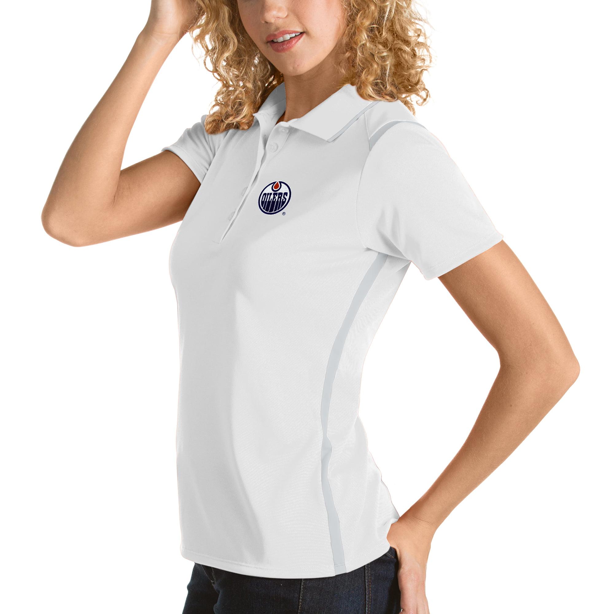 Edmonton Oilers Antigua Women's Merit Polo - White