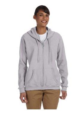 """Ladies Heavy Blend™""""¢ 8 oz., 50/50 Full-Zip Hood G186FL"""