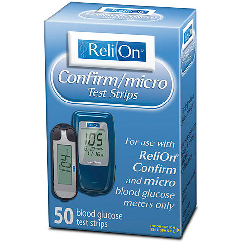 ReliOn Confirm Micro Blood Glucose Test Strips, 50ct