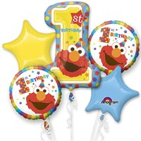 Loftus International A3-4389 Sesame Street 1st Birthday Bouquet of Balloons