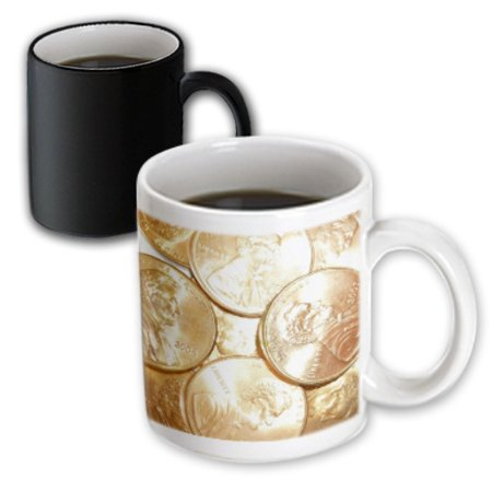 3dRose Pennies For Your Thoughts, Magic Transforming Mug, 11oz (Magic Penny)