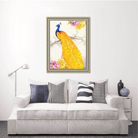 outdoorline DIY Full Drill Animal Crystal Painting Rhinestone Embroidery Diamond Hallway Needlework Picture Family Home Cross Stitch - image 6 of 9