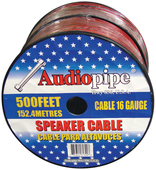Nippon Cable16black 16 Ga Gauge 1000' Spool Speaker Cable