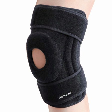 GLiving Open Patella Stabilizer Knee Brace - Strong Breathable Neoprene Knee Support for Stabilizing Patella Dislocation Tracking Arthritis Meniscus Tear Injury
