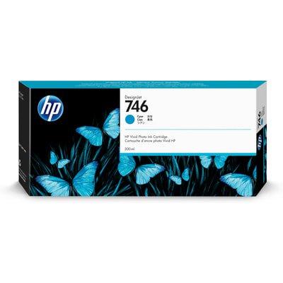 - HP 746 (P2V80A) DesignJet Z6/Z9 Cyan Original Ink Cartridge (300 ml)