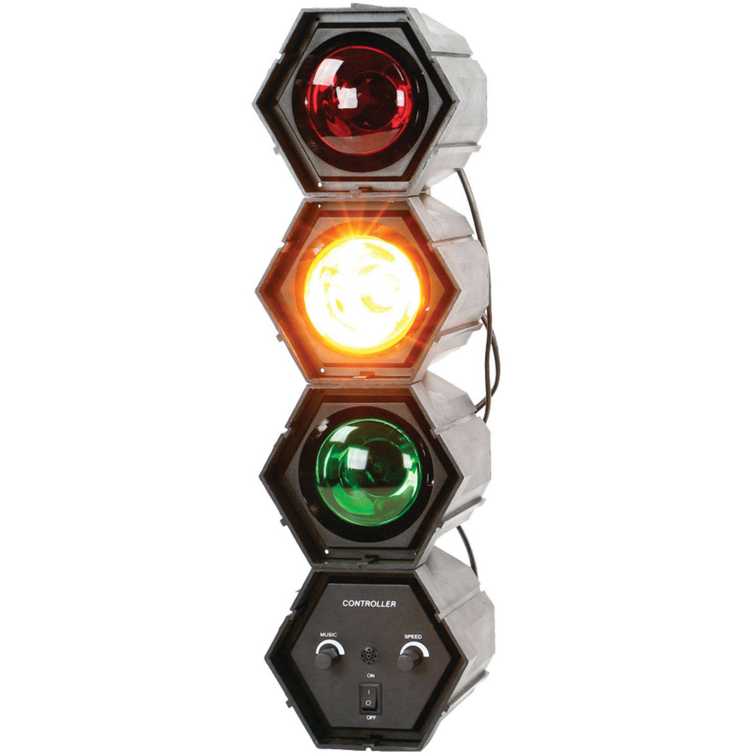 Quantum FX 3-Color Sound-Responsive TRAFFIC Disco Light