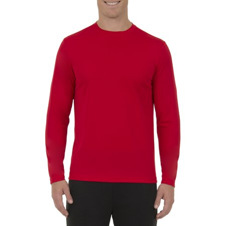 Athletic Works Big Men's Active Performance Long Sleeved Crew Neck Tee Active Long Sleeve Training Top