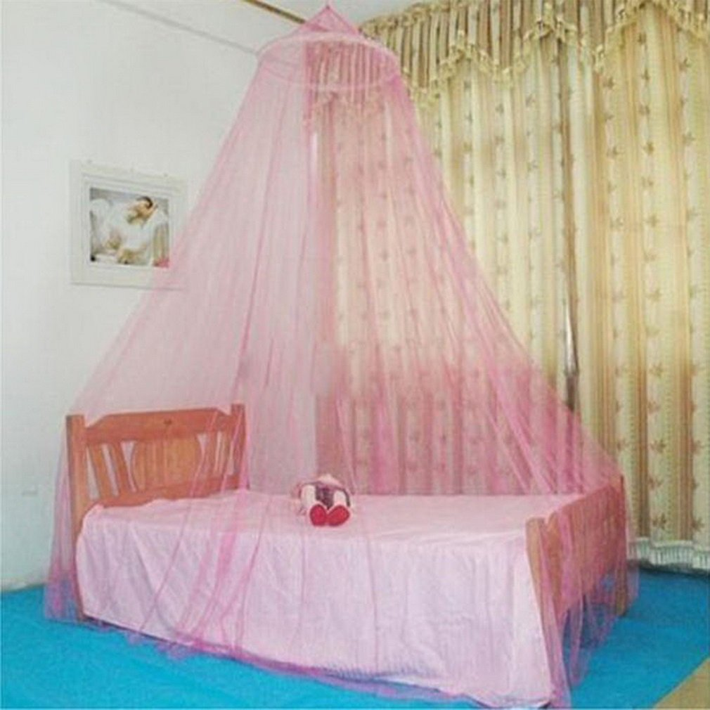 Outdoor Summer Round Lace Insect Bed Canopy Netting Curtain Polyester Mesh Fabric