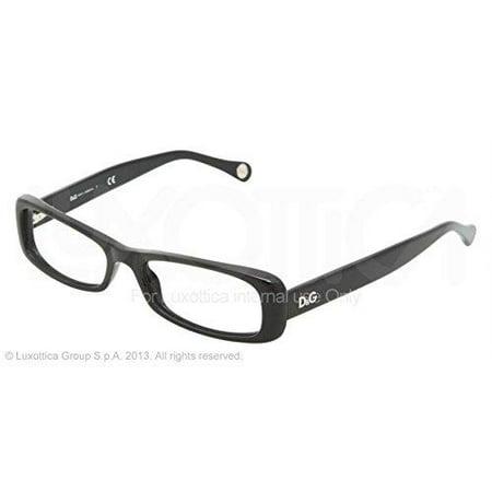 D&G DD1199 501 Eyeglasses Black Demo Lens (Optical Lenses Uk)