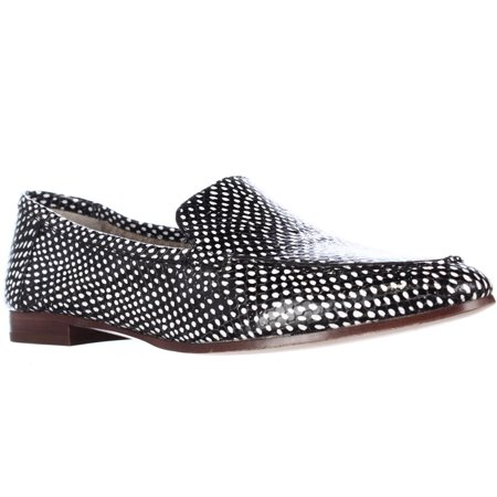 e2312924ddb2 Kate Spade New York - Womens Kate Spade Carima Pointed Toe Loafer Flats -  Black White Snake - Walmart.com