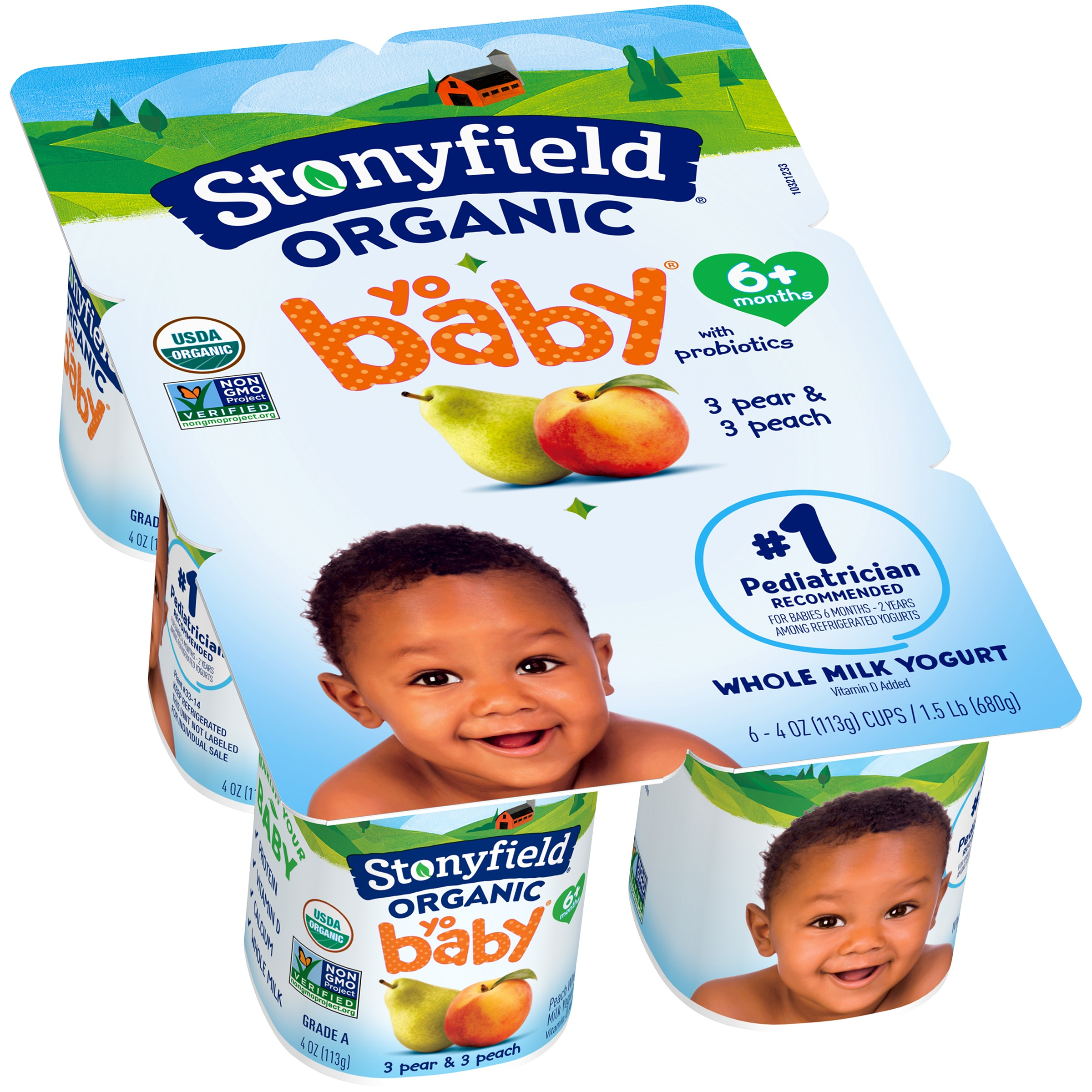 Stonyfield® Organic Yobaby® Whole Milk Yogurt 6-4 oz. Cups