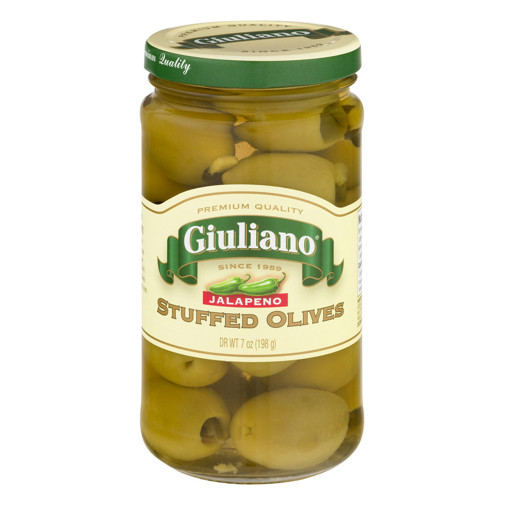 Giuliano Stuffed Olives Jalapeno, 7.0 OZ by Giulianos' Specialty Foods