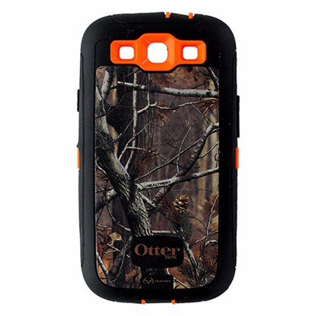 timeless design 2608f dca68 OtterBox Defender Case and Holster for Samsung Galaxy S3 - RealTree Camo  /Orange (Refurbished)