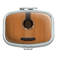 Acoustic Guitar Strings Rectangle Pill Case Trinket Gift Box