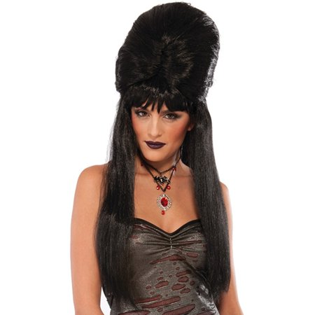 Adult's Gothic Dark Temptress Seductive Mysterious Wig Costume (Gothic Wing)
