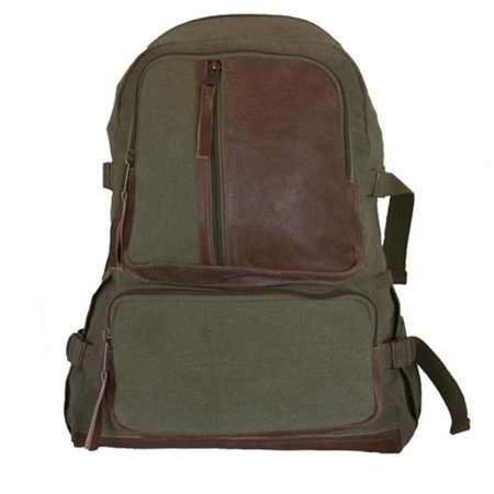 Fox Outdoor 43-660 Retro Vintage Airmans Rucksack - Olive Drab
