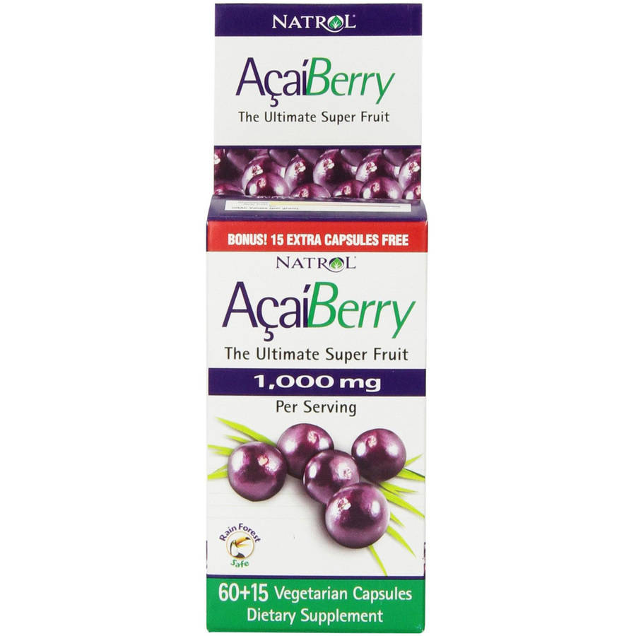 Natrol Acai Berry capsules, 75 CT