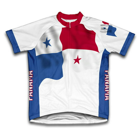 Panama Flag Short Sleeve Cycling Jersey  for Men - Size -