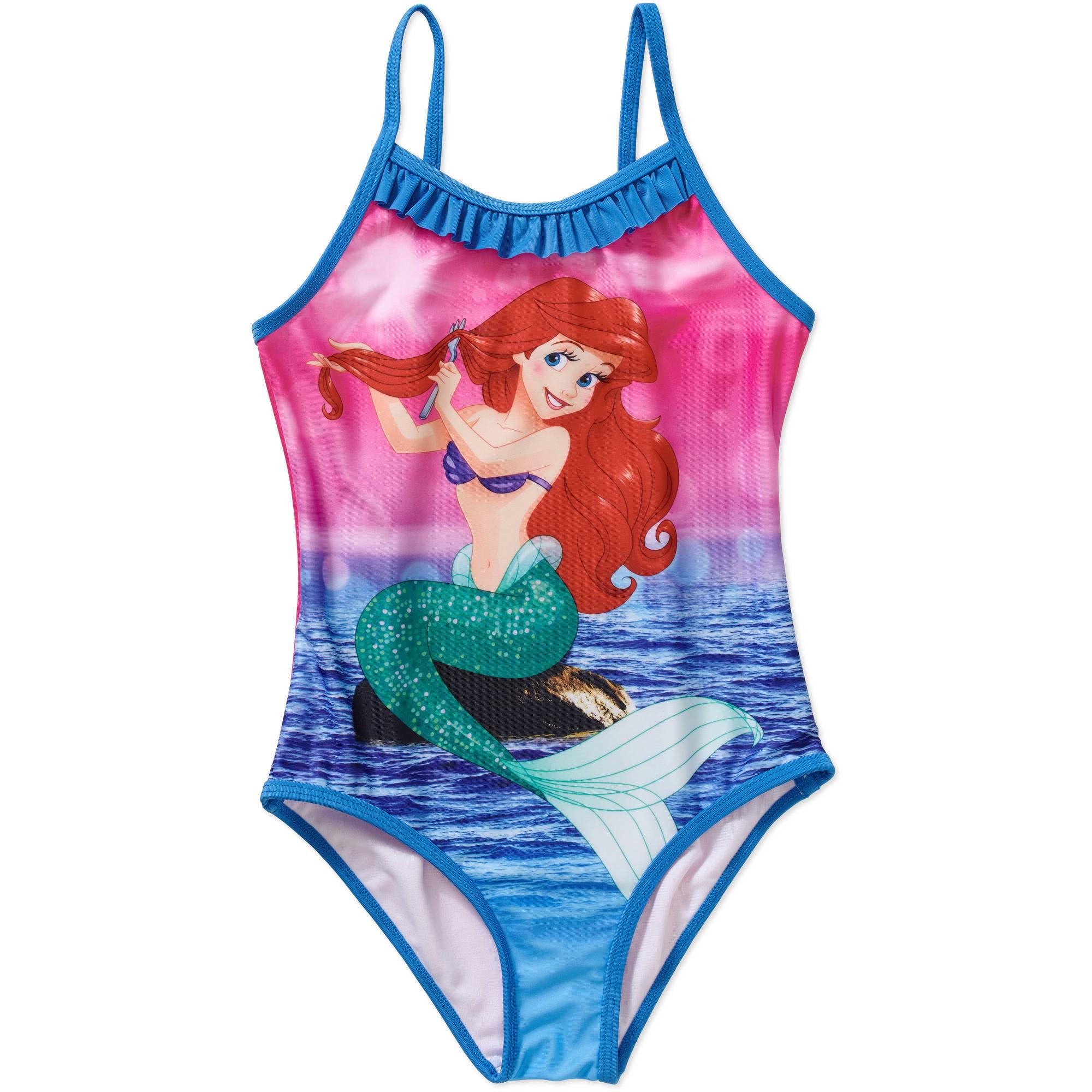 Disney Princess Little Mermaid Ariel Girls' One Piece Swimsuit