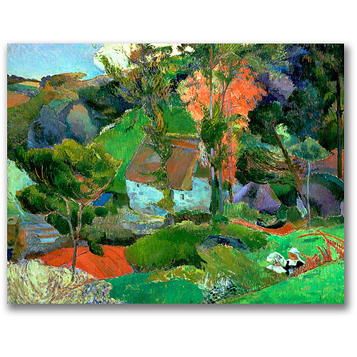 "Trademark Fine Art ""Landscape at Pont Aven"" Canvas Wall Art by Paul Gauguin"