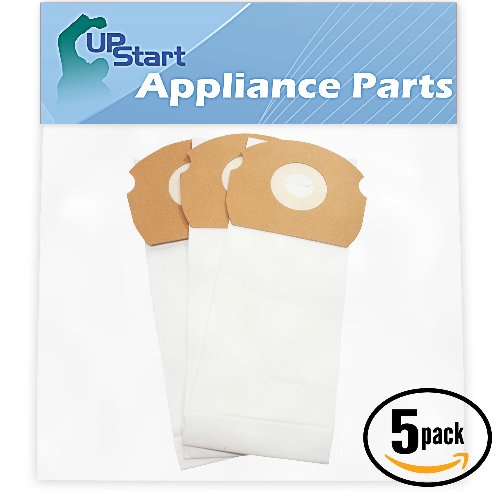 15 Replacement Eureka AirSpeed ASM1076 Vacuum Bags  - Compatible Eureka 68155, AS Vacuum Bags (5-Pack - 3 Vacuum Bags per Pack)