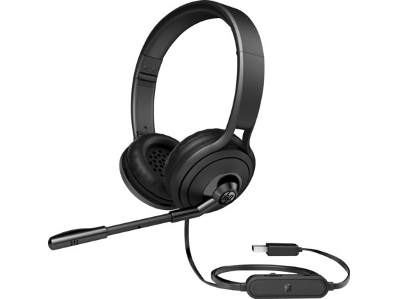 Hp Usb Headset 500 Volume Control Boom Microphone Black 1nc57aa Abl Walmart Com Walmart Com