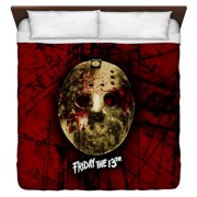 Friday The 13Th Bloody Mask King Duvet Cover White 104X88