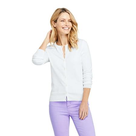 69e17a1ba00e Land's End - Women's Long Sleeve Supima Cotton Cardigan Sweater -  Walmart.com