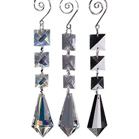 Firefly Imports Acrylic Chandelier Crystals Almond Link, Silver - Firefly Order