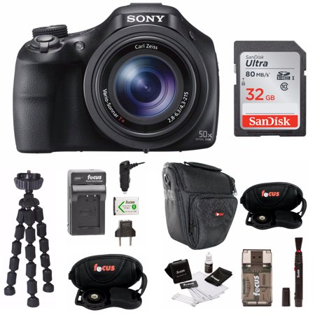 Sony DSC-HX400 Cyber-shot Digital Camera with 32GB SD Card and Battery (Best Sony Cybershot Camera)
