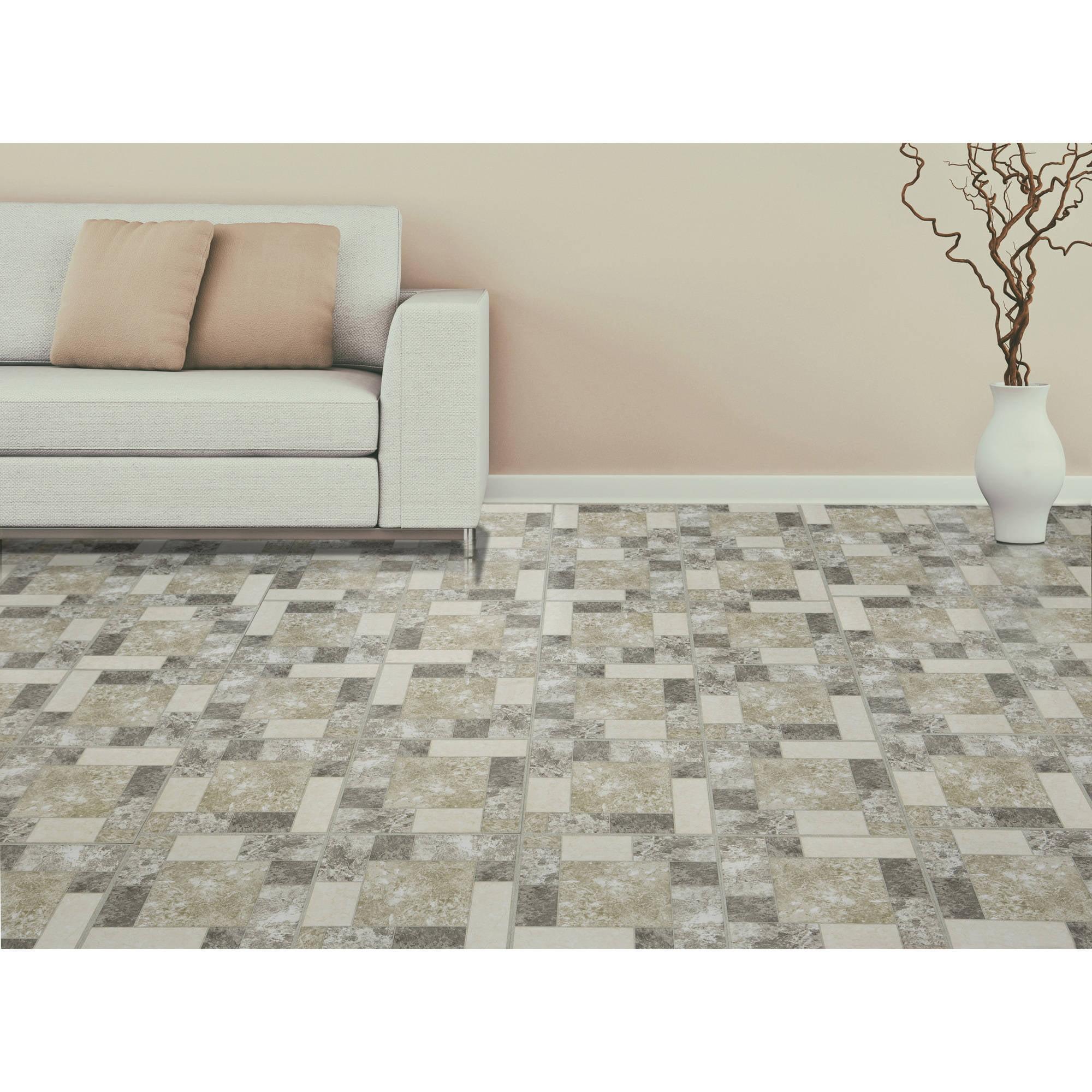 Achim Nexus Marble Blocks 12x12 Self Adhesive Vinyl Floor Tile - 20 ...