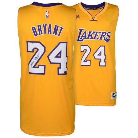 e17c02a83d9 Kobe Bryant Los Angeles Lakers Autographed Adidas Swingman Yellow Jersey -  Panini - Walmart.com