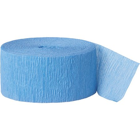 Blue Streamers ((2 pack) Crepe Paper Streamers, 81 ft, Baby Blue,)