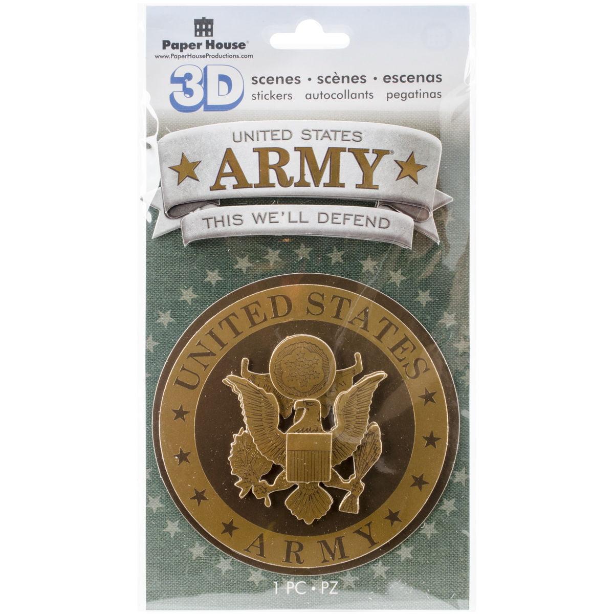 Paper house 3d stickers army emblem walmart com