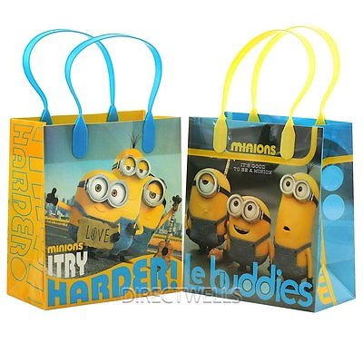 12PCS Dispicable Me Minions Le Buddies Goodie Party Favor Gift Birthday Loot Bag