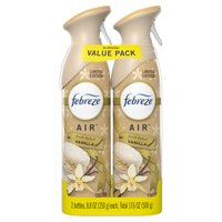 Febreze Odor-Eliminating Air Freshener Spray, Vanilla, 2 Ct