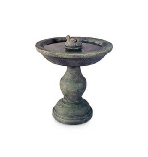 2 Pc Pillar Birdbath in Moss Finish by CPI Inc