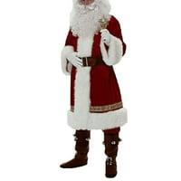 Men Santa Claus Costume Father Christmas Fancy Dress Budget Adult Outfit Suit