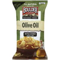 Boulder Canyon Olive Oil Kettle Cooked Potato Chips, 6.5 oz, (Pack of 6)