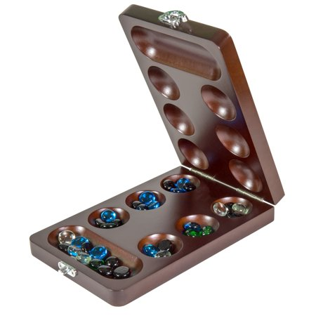 Craftsman Natural Wood Veneer Deluxe Mancala Set