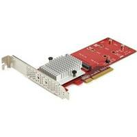 StarTech Dual M.2 PCIe 3.0 SSD Adapter Card PEX8M2E2