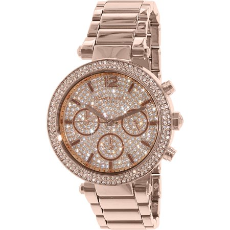 Michael Kors Womens Watch Parker Rose Gold Glitz MK5857